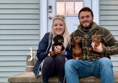 Dog Trainers Ben Miller and Kelly Gilbert
